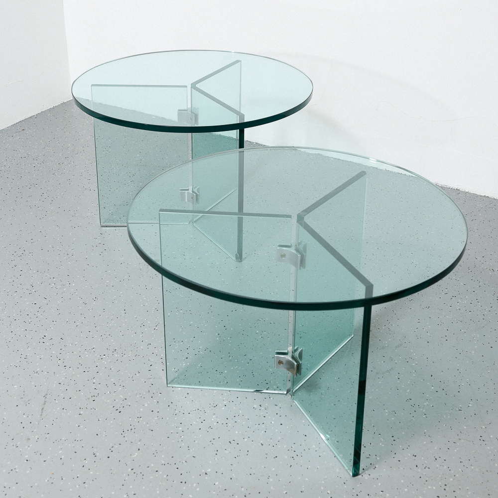 Wondrous Pair Of Mid Century Modern Glass End Tables By Pace Van Download Free Architecture Designs Grimeyleaguecom